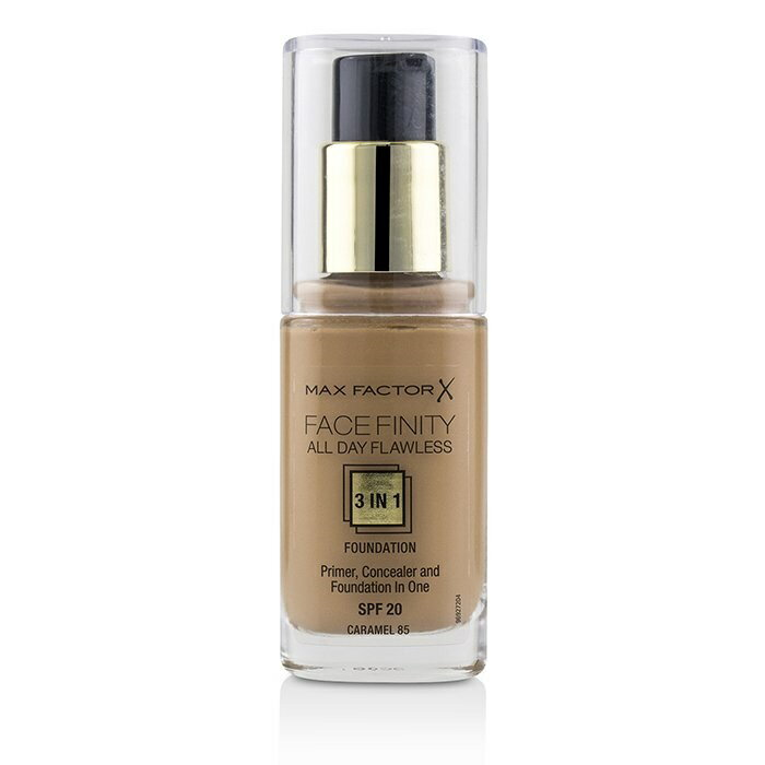 Max FactorFace Finity All Day Flawless 3 in 1 Foundation SPF20 - #85 CaramelマックスファクターFace Finity All Day Flaw【楽天海外直送】