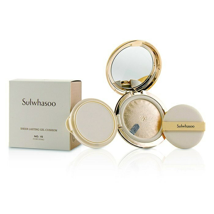 SulwhasooSheer Lasting Gel Cushion SPF 35 - # No.15 Ivory (Pink)ソルファスSheer Lasting Gel Cushion SPF 35 - # No.【楽天海外直送】