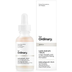 【月間優良ショップ受賞】The OrdinaryLactic Acid 10% + HA 2%The OrdinaryLactic Acid 10% + HA 2% 30ml【楽天海外直送】