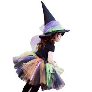 ハロウィン衣装 ハロウィン 衣装 子供用 帽子付き 魔女 女の子 コスプレ 仮装 コスチューム ジュニア 子供 ハロウィーン イベント パーティー 悪魔 女の子 魔女 魔法使い キッズ コスプレ衣