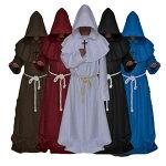 ハロウィンコスプレコスチューム神父十字架牧師宣教師牧師キリスト教修士大人用メンズ男性用ホラーオバケ屋敷