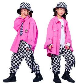 キッズダンス衣装 セットアップ 女の子 男の子 韓国 子供服 ヒップホップ キッズ ダンス衣装 チェック 上下 ジュニア 練習着 おしゃれ キッズダンス 衣装 ダンスウェア 送料無料 110 120 130 140 150 160 170