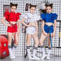 ダンス衣装セットアップガールズヒップホップキッズダンス衣装派手jazz女の子キッズダンス衣装子供服演出服韓国キッズダンストップス+パンツsale買得