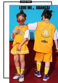 ダンス衣装キッズヒップホップダンス衣装tシャツガールズスカート男の子パンツ子供服キッズダンス衣装かっこいい体操服