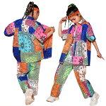 キッズダンス衣装ガールズ韓国子供服ヒップホップキッズダンス衣装セットアップファッション女の子演出服ステージ衣装おしゃれダンス衣装キッズダンスウェアショップ通販トップスパンツ110120130140150160170