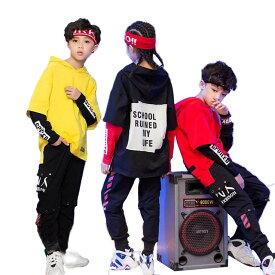 キッズ ダンス衣装 トップス ヒップホップ ダンス 衣装 パーカー キッズダンス衣装 韓国 かっこいい 派手 sale 買得