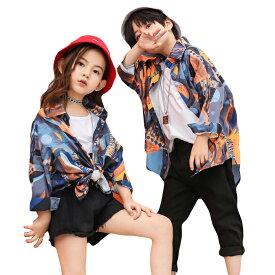 キッズ ダンス衣装 ヒップホップ ダンス 衣装 ゆるシャツ シャツ トップス キッズダンス衣装 韓国 かっこいい 男の子 男女兼用 hiphop 女の子 sale 激安 買得