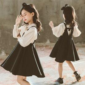子供服 セットアップ スーツ 女の子 フォーマル 上下 入学式 キッズ スーツ 可愛い 韓国 卒業式 子ども服 ガールズ ワンピース+シャツ 通園 通学 卒業 子供 服 送料無料