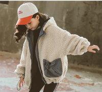 中綿コート子供服キッズコートファー冬中綿ジャケットアウターロング丈厚手ボリュームキッズコート綿コート通園韓国子ども服通学トップス女の子防寒対策セール