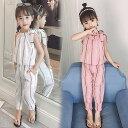 子供服 キッズ セットアップ 2点セット 韓国子供服 シャツ+パンツ フォーマル カジュアル 上下 女の子 ガールズ 可愛…
