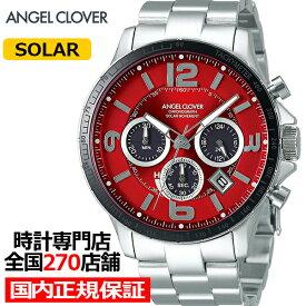 【20日はポイント最大45倍】《9月17日発売》エンジェルクローバー タイムクラフトソーラー TCS44SRE メンズ 腕時計 ソーラー メタルベルト クロノグラフ レッド
