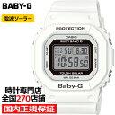 BABY-G ベビーG スクエア BGD-5000U-7JF レディース 腕時計 電波ソーラー デジタル 樹脂バンド ホワイト 国内正規品 …