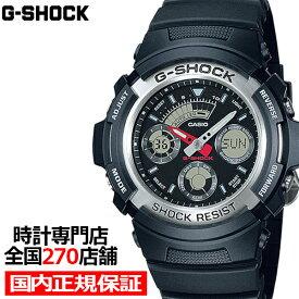 G-SHOCK ジーショック AW-590-1AJF カシオ メンズ 腕時計 デジアナ ブラック シルバー ベーシック 国内正規品