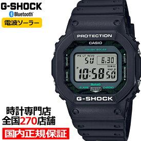 【ポイント最大37.5倍&最大5000円OFFクーポン】《4月10日発売》G-SHOCK Gショック ブラック & グリーン GW-B5600MG-1JF メンズ 腕時計 電波ソーラー Bluetooth デジタル スクエア 国内正規品 カシオ