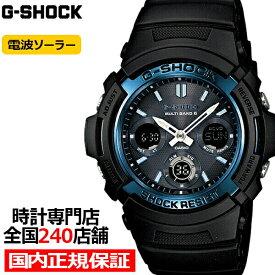 【ポイント最大42.5倍&最大5000円OFFクーポン】G-SHOCK ジーショック AWG-M100A-1AJF カシオ メンズ 腕時計 電波ソーラー ブラック ベーシック 国内正規品