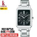 《6月10日発売》セイコー ルキア I Collection SSVW193 レディース 腕時計 ソーラー電波 角型 シルバー ブラック