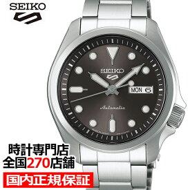 【ポイント最大56倍&最大2000円OFFクーポン】セイコー 5スポーツ SBSA041 メンズ 腕時計 メカニカル 自動巻き グレー デイデイト 日本製