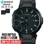 《1月15日発売/予約》セイコーソニーwiredwenaワイアードウェナwena3AGAB417メンズ腕時計Bluetoothブラック