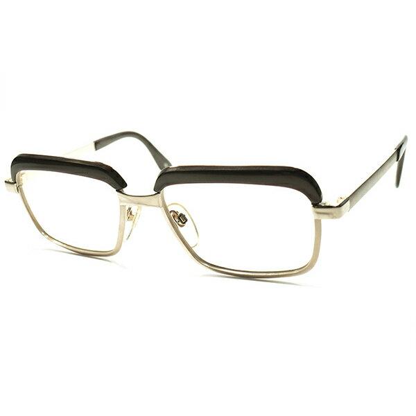 BAUHANUS形跡ゲルマンCLASSIC DESIGN 西ドイツ製 1960s-70s RODENSTOCK ローデンストック 激渋モデルCONSTANTIN 本金張り GOLDxTRUFFLE デッドストック a5449 ビンテージ眼鏡 メガネ ブロータイプ