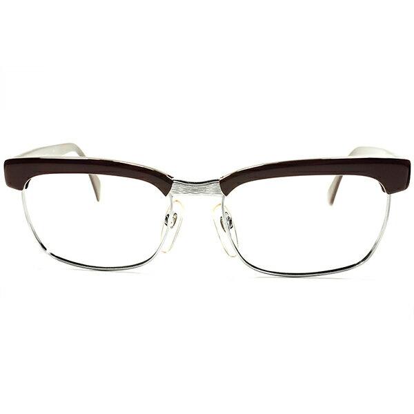 当時ベストセラー 名作 1960s-1970s デッドストック西ドイツ製 オリジナルRODENSTOCK ローデンストック ARNOLD ホワイトゴールド金張1/20 12K xDARK DEMI size56/18 a5448 ビンテージ 眼鏡 メガネ