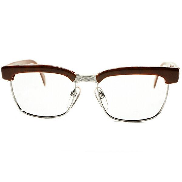 絶頂期 名作 ゲキ渋色 1960s-70s デッドストック 西ドイツ製RODENSTOCK ローデンストック ARNOLD オリジナル DEMI×1/20 12K 白金張 50/16 ビンテージメガネ 眼鏡 A5459