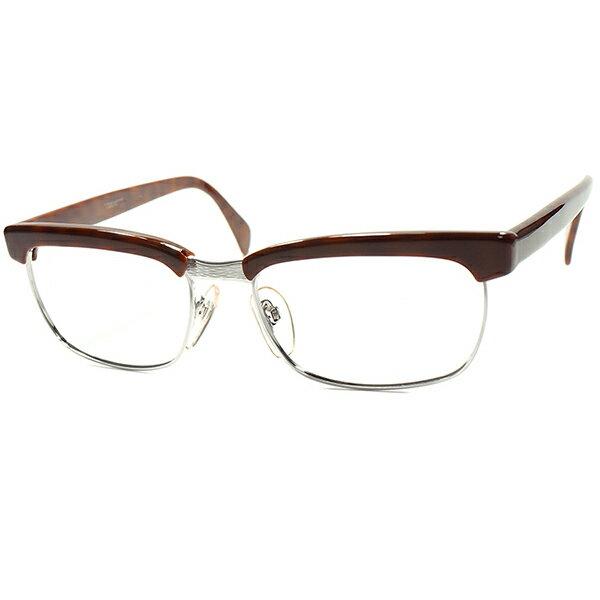 老舗看板モデル 1960s-70s デッドストック 西ドイツ製RODENSTOCK ローデンストック 名作  ARNOLD オリジナル個体 DEMI×WHITE GOLD size56/18  A5467  ビンテージ 眼鏡 メガネ メガネ A5467