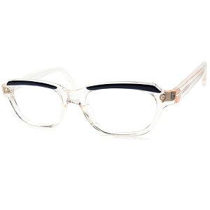 進化系フレンチCLASSIC デザイン 1960s デッドストックFRAME FRANCE フレーム フランス フランス製 AMOR STYLE ベース短縦ウェリントン FRESH PINK x 黒 ビンテージヴィンテージ 眼鏡メガネ size48/1