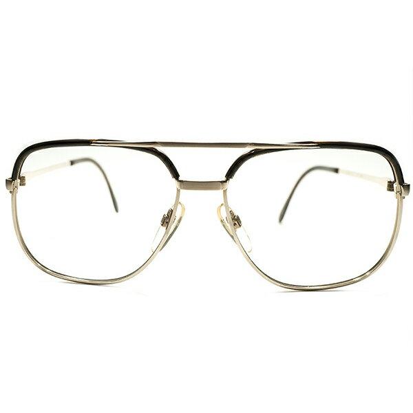 激シブ全盛期AVIATOR STYLEモデル デッドストック 1970s 西ドイツ製 MADE IN WEST GERMNAY ローデンストック RODENSTOCK W-BRIDGE 1/20-10K本金張り コンビネーションフレーム BASTIAN size56/14 ヴィンテージ メガネ 眼鏡 A5089