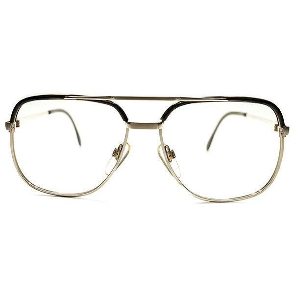 希少型 デッドストック 1970s 西ドイツ製 MADE IN WEST GERMANY RODENSTOCK ローデンストック BASTIAN 1/20-10K GOLD×BEER JAR アビエーター型 コンビネーション ヴィンテージ サングラス 眼鏡 52/14