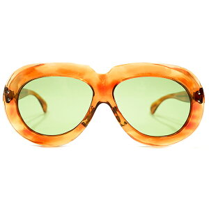 極上アバンギャルドSHAPE デッドストック 1950s フランス製 MADE IN FRANCE 2DOT ラウンドワイドリム 鼈甲柄 PANTO パントフレーム 日本製ガラスレンズ入 サングラス ビンテージヴィンテージ 眼鏡メガ