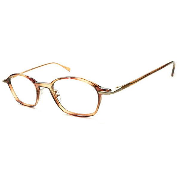 実用的ハイクオリティ デッドストック 1980s オーストリア製 MADE IN AUSTRIA 老舗 Silhouette シルエット 鼈甲柄 コンビナローウェリントン ヴィンテージ size50/21 メガネ 眼鏡 A4916