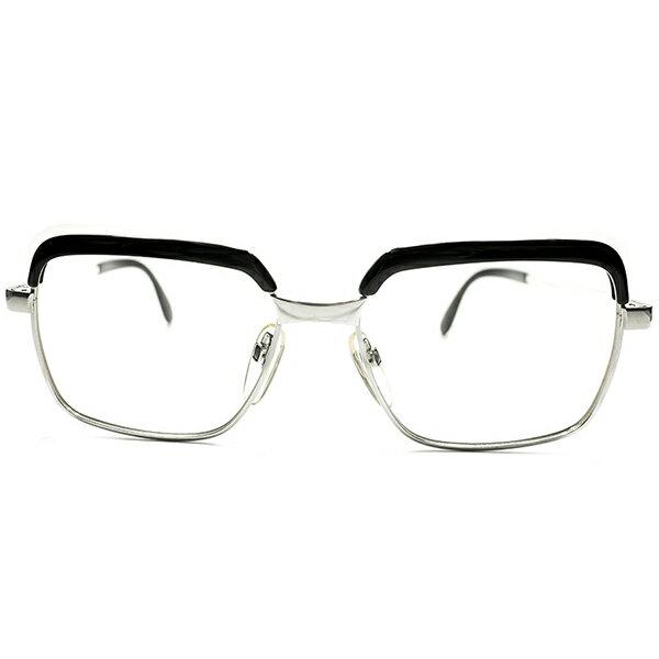辛口CLASSIC配色&高精度 デッドストック 1960s-1970s 西ドイツ製 MADE IN WEST GERMANY ローデンストック RODENSTOCK BLACK MARBLE×ホワイトゴールド コンビネーションフレーム CORREL コレル size54/16 ヴィンテージ メガネ 眼鏡 A5085