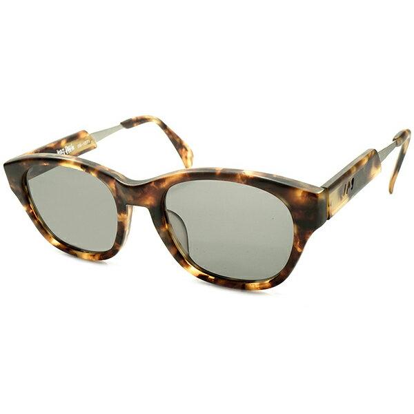 実用的超ハイクオリティ デッドストック 1990s 日本製 MADE IN JAPAN ジャンポールゴルチエ Jean Paul GAULTIER MATT AMBER 平面レンズ入 ウェリントン サングラス ヴィンテージ メガネ 眼鏡 A4156