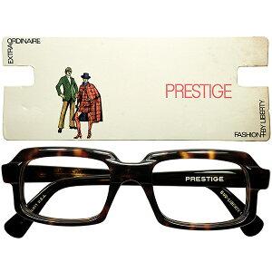 超実用的DELUXE仕様 x 濃厚RARE生地1960s極上デッドストック USA製 LIBERTY プレステージ 最大7mm極厚DEMI スクエア ウェリントン size48/19 ビンテージヴィンテージ 眼鏡メガネ a7524