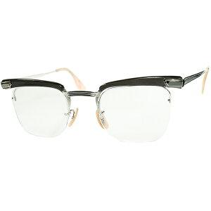 エグ目 SUPER DEEP変態ブロー初期ディティール1940sデッドストック USA製 B&L ボシュロム 1/10 12KGF金張 2POINT リムレスブロー size46/22 ビンテージヴィンテージ 眼鏡メガネ a7385
