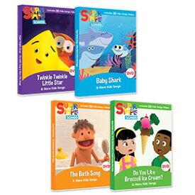 送料無料!【スーパーシンプルソングス DVD キッズソングコレクションDVD4枚セット】Super Simple Songs DVD - Kids Song Collection - 4 DVD set