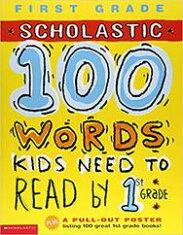 送料無料!【100WordsKidsNeedToReadBy1stGrade】Scholastic英語ワークブックアクティビティブック