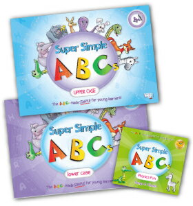 送料無料!【Super Simple ABCs 大文字・小文字・Phonics Fun CD セット】
