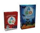 送料無料!【AGO クリスマス + ハロウィーン カードゲーム セット】 AGO Christmas Halloween set楽しい英語カードゲ…