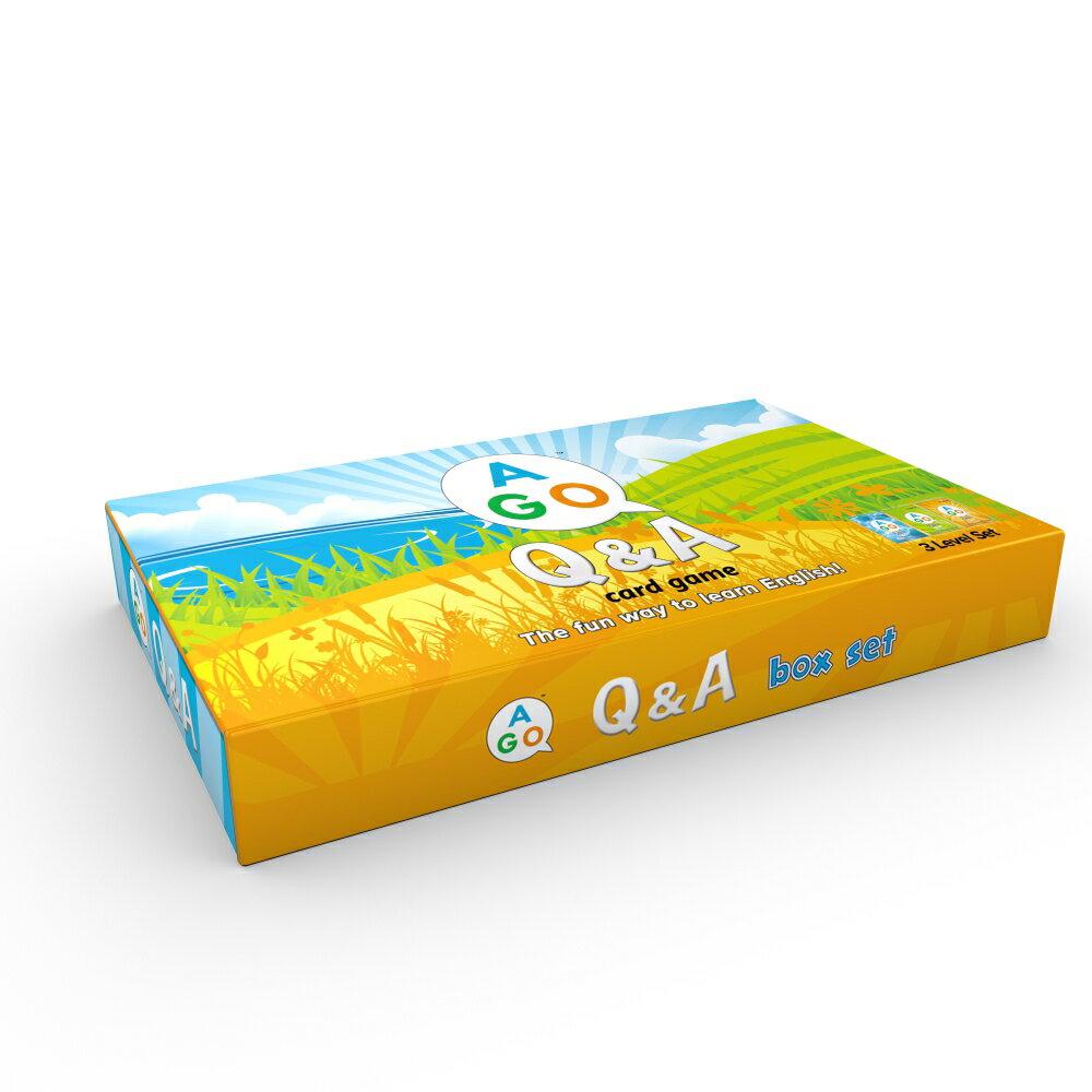 送料無料!【小学生向け英語教材 AGO Q&A カードゲーム (第2版) ボックスセット】