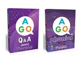 送料無料!【AGO Q&A パープル + AGO フォニックス パープル カードゲームハイレベル(Level 4)セット】AGO Q&A Purple + AGO Phonics Purple set楽しい英語カードゲーム!家族全員、英語であそぼう!こども英語をFUNにしよう!