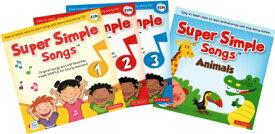 送料無料!【Super Simple Songs 第2版 1.2.3 + Animals CD Set】英語の歌 子ども英語 幼児英語 英会話 スーパーシンプルソング