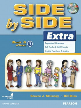 送料無料【Side by Side 1 Extra Edition Student Book and eText with CD Highlights】英語教材 英会話