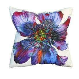 クッション ふわふわ 45x45 なめらかな肌触り かわいい 北欧 姫系 フラワー 花柄 アネモネ