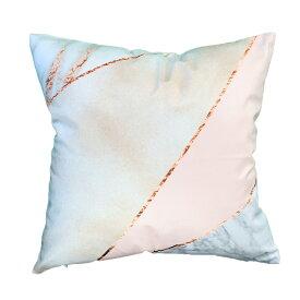 クッション ふわふわ 45x45 なめらかな肌触り かわいい 北欧 姫系 ピンク 幾何学模様