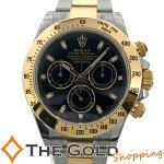 ロレックスROLEXデイトナ116523並行2012年黒文字盤コンビYG/SS116523時計腕時計メンズ[男性用【中古ユーズド】