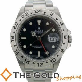 【中古】ロレックス エクスプローラー2 16570 F番 並行2005年 黒文字盤 ライトポリッシュ済 SS AT ROLEX 腕時計 [メンズ 男性用]