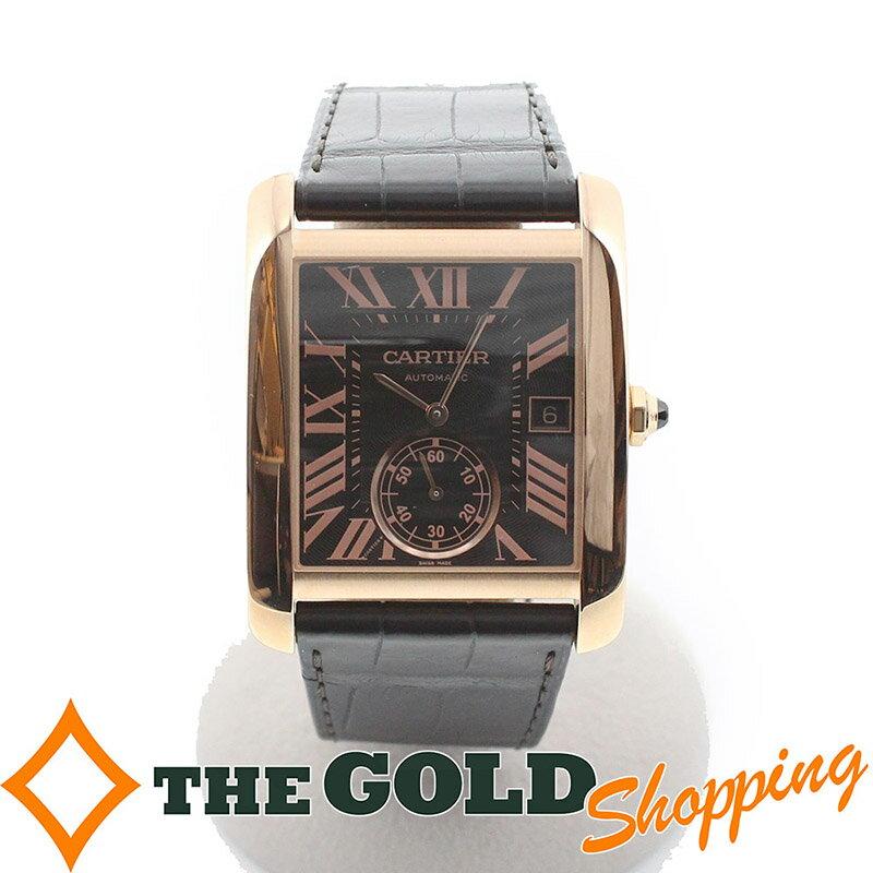 カルティエ / Cartier : タンクMC メンズモデル シースルーバック W5330002 時計 腕時計 メンズ[男性用] 【中古】プレゼント ギフト ご褒美 買取り ビジネス 父の日 記念日 ボーナス