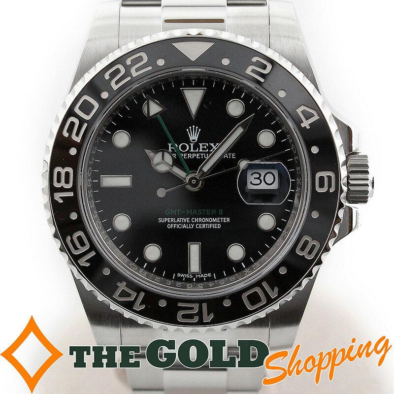 ロレックス GMTマスター2 116710LN ランダム 日本正規 黒ベゼル 時計 腕時計 メンズ 男性用 ROLEX 【中古】
