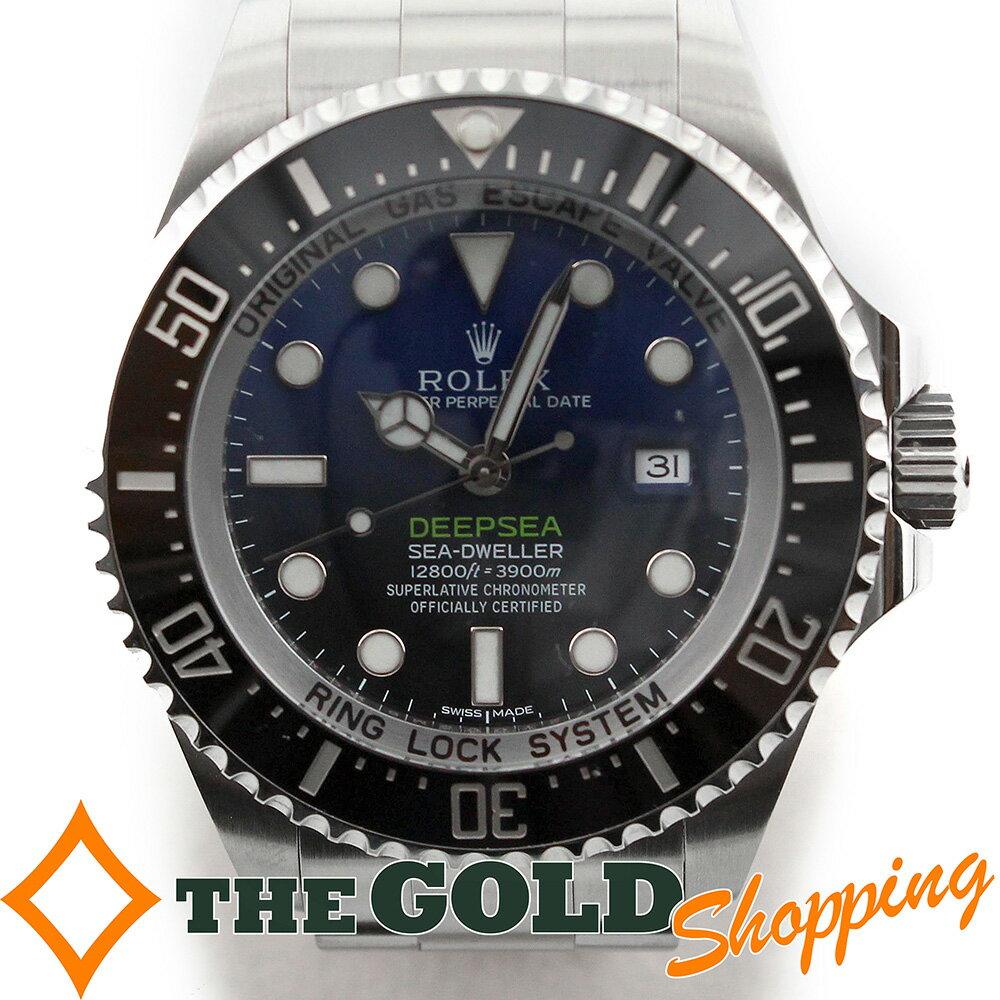 ロレックス シードゥエラー ディープシー Dブルー 2016年 116660 並行 ランダム 青 時計 腕時計 メンズ 男性用 ROLEX【中古】